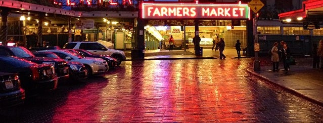 Pike Place Market is one of Seattle spots.