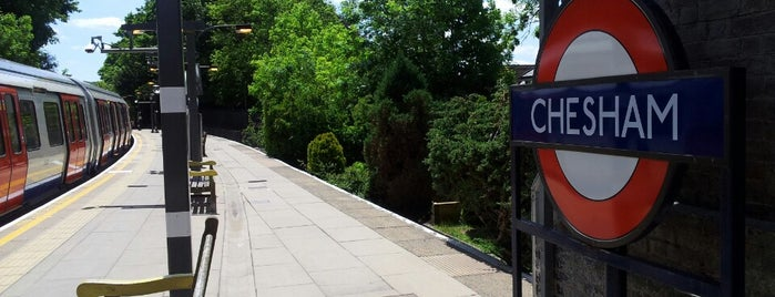 Chesham London Underground Station is one of Tube Challenge.