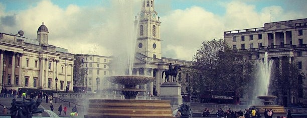 Trafalgar Square is one of London.