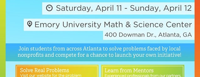 Emory Math & Science Center is one of Places I Go!.