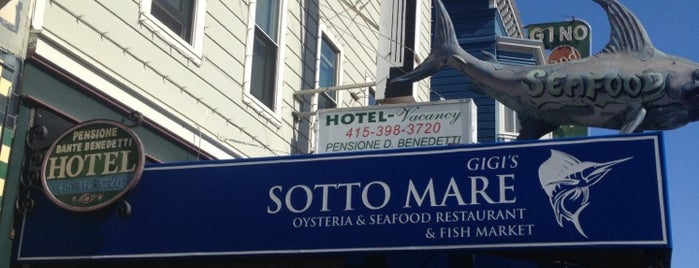 Sotto Mare Oysteria and Seafood Restaurant is one of Restaurantes (por danielsuco).