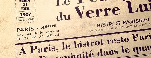 Au Verre Luisant is one of Paris.
