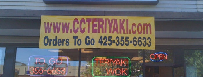 CC Teriyaki is one of Erik's tips.
