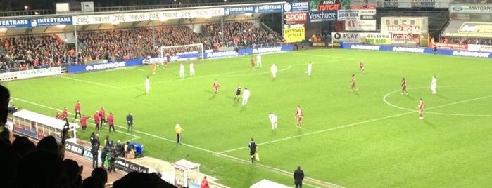 Regenboogstadion is one of Jupiler Pro League and Belgacom League - 2013-2014.