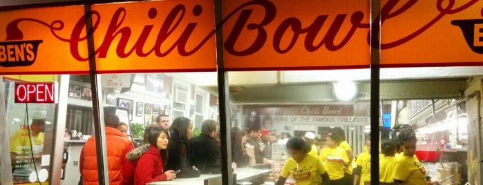 Ben's Chili Bowl is one of Washington DC Eater 38.