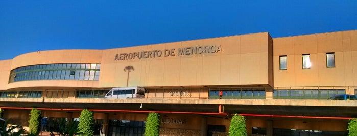 Aeroport de Menorca (MAH) is one of Aeropuertos.