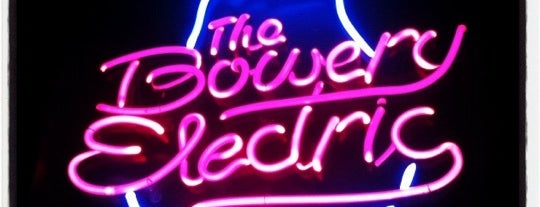 The Bowery Electric is one of A brief history of foursquare.