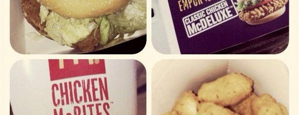 McDonald's / McCafé is one of 10 favorite restaurants ;p.