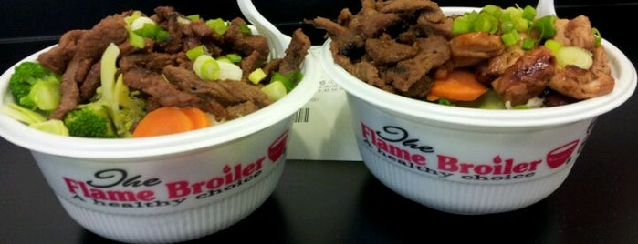 Flame Broiler is one of New Places to Eat.