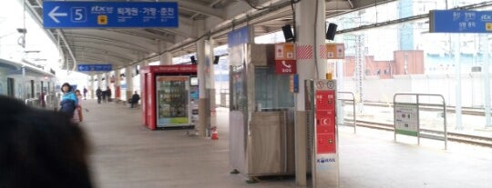 상봉역 (Sangbong Stn.) is one of Subway Stations in Seoul(line1~4 & DX).