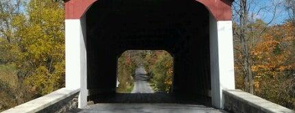 Van Sandt Covered Bridge is one of Must-See Spots in Bucks County, PA! #visitUS.