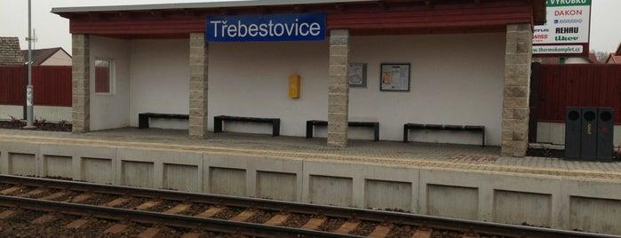 Železniční zastávka Třebestovice is one of Železniční stanice ČR: Š-U (12/14).