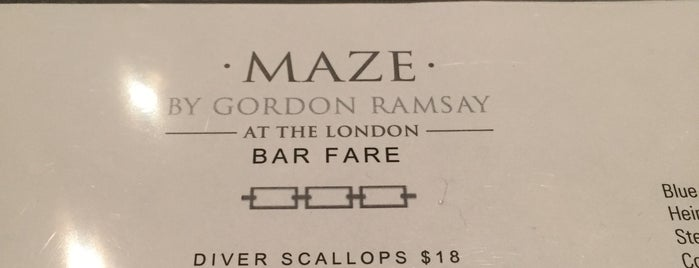 Maze Restaurant is one of All-time favorites in United States.