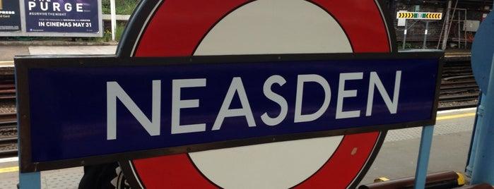 Neasden London Underground Station is one of Tube Challenge.