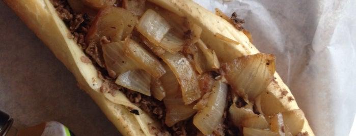 Jim's Steaks is one of Leechee's tips.
