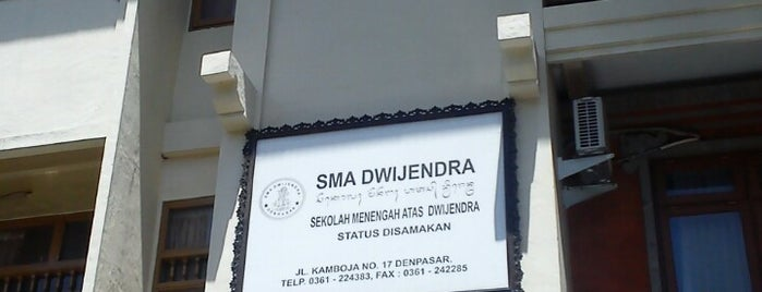 SMA Dwijendra Denpasar is one of SMA/SMK Denpasar.