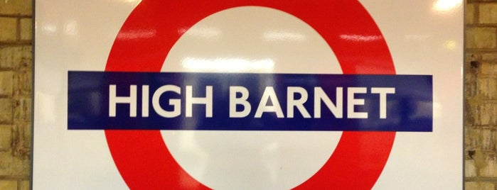 High Barnet London Underground Station is one of Tube Challenge.