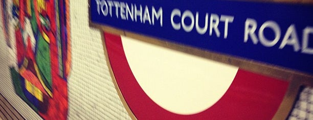 Tottenham Court Road London Underground Station is one of Zone 1 Tube Challenge.