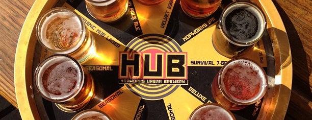 Hopworks Urban Brewery is one of Portland's Top Beer Spots.