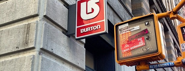 Burton is one of SNOWBOARD SHOPS.