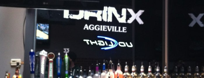 Drinx is one of Aggieville Bars.