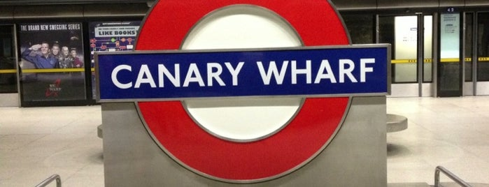Canary Wharf London Underground Station is one of Tube Challenge.