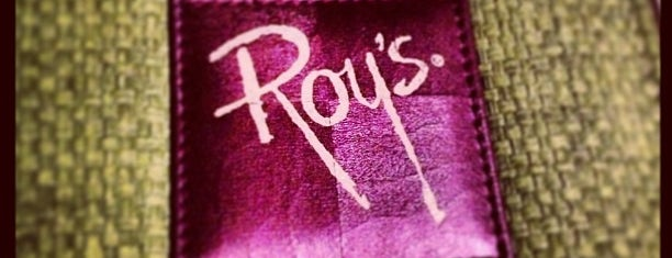 Roy's is one of soon.