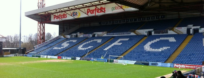 Edgeley Park is one of Football grounds visited.