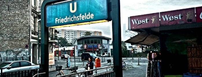 U Friedrichsfelde is one of U-Bahn Berlin.