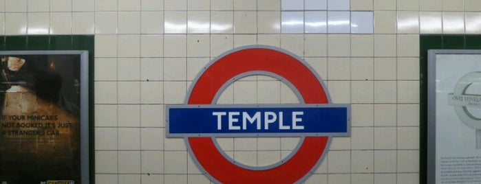 Temple London Underground Station is one of Zone 1 Tube Challenge.
