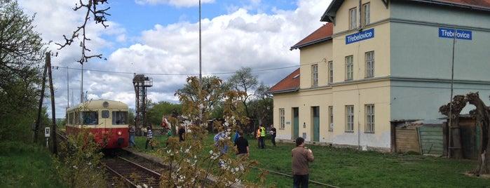 Železniční stanice Třebelovice is one of Železniční stanice ČR: Š-U (12/14).