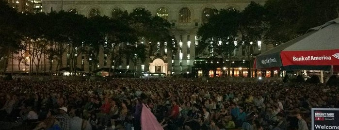 HBO Bryant Park Summer Film Festival presented by Bank of America is one of As seen on Movies.