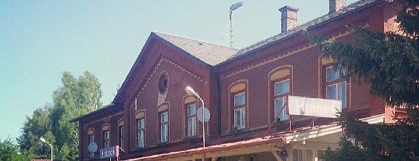 Železniční stanice Hronov is one of Železniční stanice ČR: H (3/14).