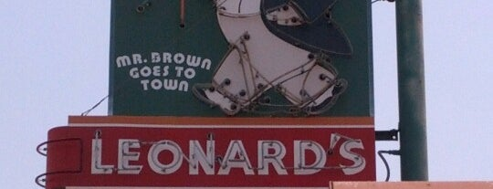 Leonard's BBQ is one of DINERS DRIVE-IN & DIVES 3.