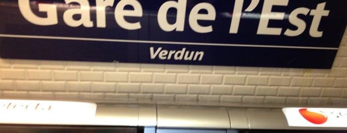 Métro Gare de l'Est [4,5,7] is one of Stations de metro a Paris.