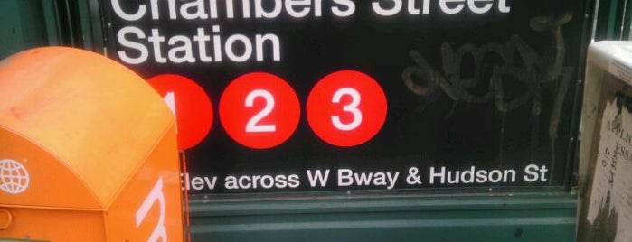 "MTA Subway - Chambers St (1/2/3) is one of ""Be Robin Hood #121212 Concert"" @ New York!."