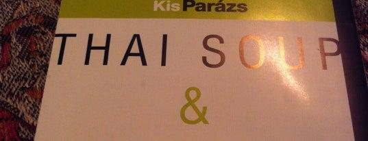 KisParázs Thai Soup & Wok Bar is one of finomságok jó helyeken.