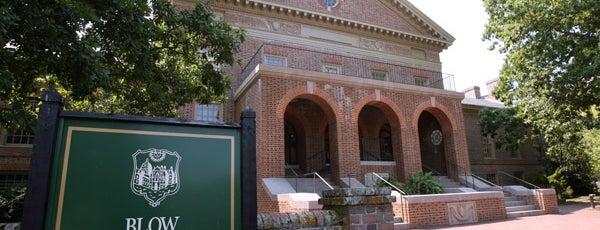 Blow Memorial Hall is one of Academic Buildings.