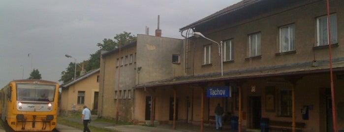 Železniční stanice Tachov is one of Železniční stanice ČR: Š-U (12/14).