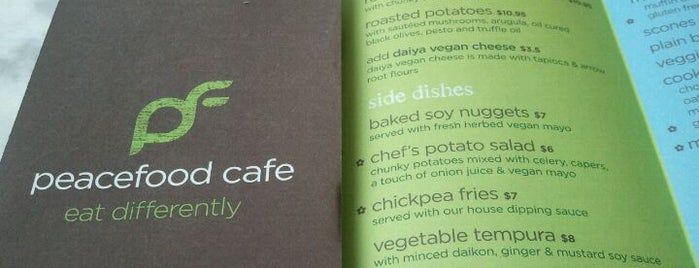 Peacefood Cafe is one of Must Eat Veggie Spots.