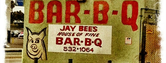 """Jay Bee's House Of Fine Bar-B-Que is one of """"Diners, Drive-Ins & Dives"""" (Part 1, AL - KS)."""