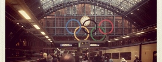 London St Pancras International Railway Station (STP) is one of (anything) in London.