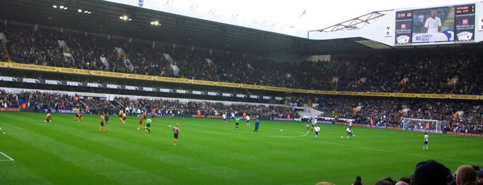 White Hart Lane Stadium is one of Football grounds visited.