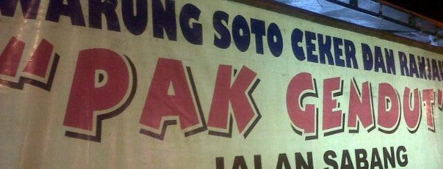 Soto Ceker & Ranjau Pak Gendut is one of Jakarta.