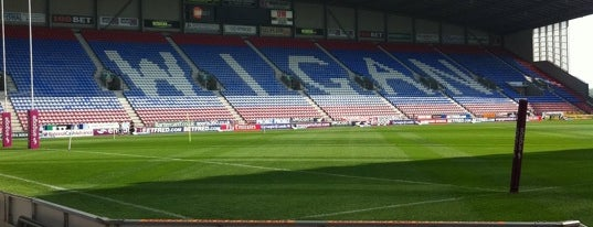 DW Stadium is one of Football grounds visited.