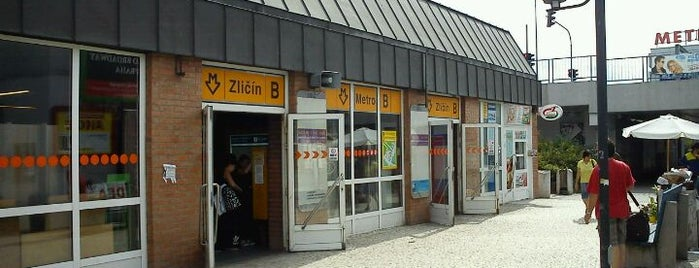 Metro =B= Zličín is one of Metro B.