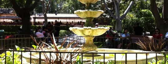 New Orleans Square Fountain is one of Disneyland Fun!!!.
