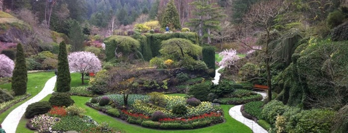 Butchart Gardens is one of Canada Favorites.