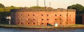 Castle Williams is one of NYC's Historic War Sites.