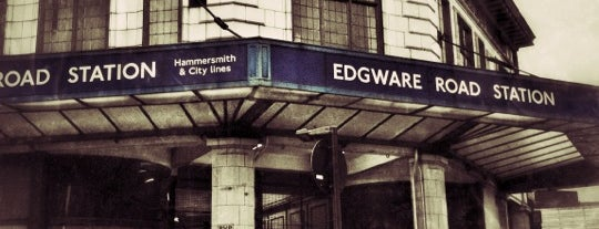 Edgware Road London Underground Station (Circle, District and H&C lines) is one of Zone 1 Tube Challenge.